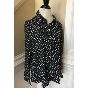NWT Spense Button Down Blouse Shirt Long Sleeve